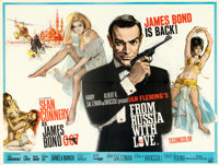 "From Russia with Love (United Artists, 1963). Very Fine on Linen. British Quad (30"" X 40"") Renato Fratini and..."