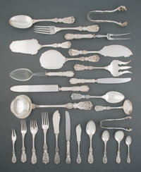 A One Hundred and Ninety-Three-Piece American Silver Partial Flatware Dinner Service Marks: ACC, STERLING