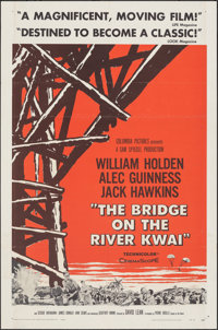 """The Bridge on the River Kwai (Columbia, 1958). Folded, Fine/Very Fine. One Sheet (27"""" X 41"""") Style A. War"""