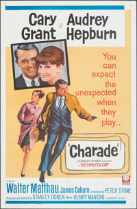 "Charade (Universal, 1963). Folded, Very Fine+. One Sheet (27"" X 41""). Mystery"