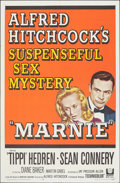 """Movie Posters:Hitchcock, Marnie (Universal, 1964). Folded, Very Fine. One Sheet (27"""" X 41""""). Hitchcock.. ..."""