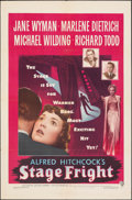 """Movie Posters:Hitchcock, Stage Fright (Warner Bros., 1950). Folded, Very Fine-. One Sheet (27"""" X 41""""). Hitchcock.. ..."""