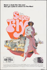 "Super Fly (Warner Bros., 1972). Folded, Very Fine+. One Sheet (27"" X 41"") Tom Jung Artwork. Blaxploitation..."