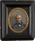 Political:3D & Other Display (pre-1896), Zachary Taylor: Colorful Transfer on Glass Wall Plaque....