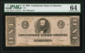Confederate Notes:1862 Issues, T55 $1 1862 PF-2 Cr. 397 PMG Choice Uncirculated 64.. ...