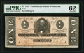 Confederate Notes:1864 Issues, T71 $1 1864 PF-12 Cr. 574 PMG Uncirculated 62.. ...