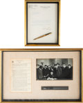 Political:Presidential Relics, Lyndon B. Johnson: Civil Rights Act Bill Signing Pen and More.... (Total: 2 Items)