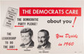 Political:Posters & Broadsides (1896-present), Kennedy & Johnson: Large Jugate Michigan Poster. ...