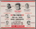 Political:Posters & Broadsides (1896-present), John F. Kennedy: Rare Texas Coattail Poster.... (Total: 3 Items)