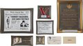 """Political:3D & Other Display (1896-present), John F. Kennedy: Group Of Six Glass """"Tip Trays"""" And More...."""