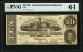 Confederate Notes:1863 Issues, T59 $10 1863 PF-11 Cr. 429 PMG Choice Uncirculated 64.. ...