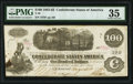 Confederate Notes:1862 Issues, Issued at New Iberia, (LA) T40 $100 1862 PF-1 Cr. 298 PMG Choice Very Fine 35.. ...