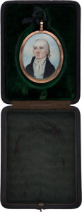 Political:3D & Other Display (pre-1896), Thomas Jefferson: Miniature Painting....