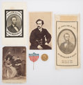 Political:Memorial (1800-present), Abraham Lincoln: Mourning Ribbon And CDV's....