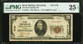 National Bank Notes:Wyoming, Rock Springs, WY - $20 1929 Ty. 1 The Rock Springs National Bank Ch. # 4755 PMG Very Fine 25 EPQ.. ...