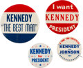 Political:Pinback Buttons (1896-present), John F. Kennedy: Group Of Campaign Buttons....
