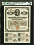 Miscellaneous:Other, Fourth Liberty Loan 4 1/4% Gold Bond of 1933-38 $50 Oct. 24, 1918 PMG About Uncirculated 55 EPQ.. ...