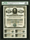 Miscellaneous:Other, Second Liberty Loan Converted 4 1/4% Gold Bond of 1927-42 $100 May 9, 1918 PMG Gem Uncirculated 65 EPQ.. ...