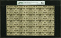 Fractional Currency:Third Issue, Fr. 1226 3¢ Third Issue Full Sheet of 25 PMG About Uncirculated 53.. ...
