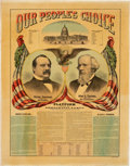 Political:Posters & Broadsides (1896-present), Cleveland & Thurman: Spectacular 1888 Jugate Campaign Chart....