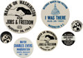 Political:Pinback Buttons (1896-present), Collection Of March On Washington And Other Cause Buttons....