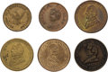 Political:Tokens & Medals, Abraham Lincoln, Stephen A. Douglas and John Bell: 1860 Tokens....