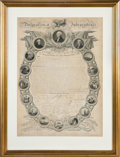 Miscellaneous:Ephemera, Declaration of Independence: John Binns Version Published in 1819. ...