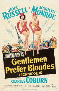 "Gentlemen Prefer Blondes (20th Century Fox, 1953). Folded, Fine/Very Fine. One Sheet (27"" X 41""). Musical"