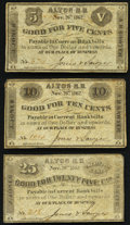 Obsoletes By State:New Hampshire, Alton, NH- Jones & Sawyer 5¢; 10¢; 25¢ Nov. 26, 1862 Fine or Better.. ... (Total: 3 notes)