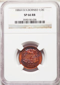 British North Borneo, British North Borneo: British Protectorate Specimen 1/2 Cent 1886-H SP66 Red and Brown NGC,...
