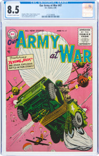 Our Army at War #47 (DC, 1956) CGC VF+ 8.5 Off-white to white pages