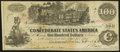 """Confederate Notes:1862 Issues, Bogus Green """"$100"""" Back T39 $100 1862 Very Fine.. ..."""