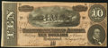 Confederate Notes:1864 Issues, T68 $10 1864 PF-42 Cr. 551 Choice About Uncirculated.. ...
