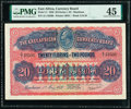 World Currency, East Africa East African Currency Board 20 Florins = 2 Pounds 1.5.1920 Pick 11 PMG Choice Extremely Fine 45.. ...