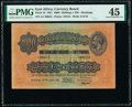 East Africa East African Currency Board 1000 Shillings = 50 Pounds 15.12.1921 Pick 18 PMG Choice Extremely Fine 45