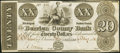 Obsoletes By State:Michigan, Berrien, MI- Berrien County Bank $20 Oct. 1, 1838 Remainder Very Fine-Extremely Fine.. ...