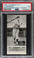 Baseball Cards:Singles (1930-1939), 1933 E137 Zeenut P.C.L. Joe DeMaggio (DiMaggio) Batting with Coupon PSA EX 5....