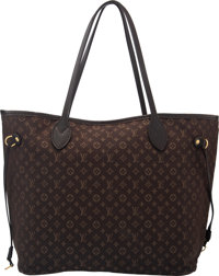 "Louis Vuitton Brown Monogram Idylle Neverfull MM Tote with Gold Hardware Condition: 4 13"" Length x 11"" Heigh..."