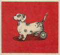 Prints & Multiples, Julie Speed (American, b. 1951). Rolling Dog. Etching in colors on wove paper. 10-3/8 x 11-1/2 inches (26.4 x 29.2 cm) (...