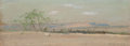 Works on Paper, Frank Reaugh (American, 1860-1945). West Texas. Pastel on paper laid on board. 3 x 7-1/2 inches (7.6 x 19.1 cm). Signed ...