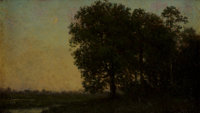 Julian Onderdonk (American, 1882-1922) Sunset at Dongan Hills, Staten Island, c. 1904 Oil on board 4-3/4 x 7-3/4 inch
