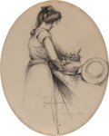 Works on Paper, Julian Onderdonk (American, 1882-1922). Gertrude, 1902. Pencil on paper. 10 x 7-3/4 inches (25.4 x 19.7 cm). Signed, dat...