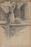 Works on Paper, Julian Onderdonk (American, 1882-1922). Goddess of the Windermere, 1902. Pencil on paper. 6-1/4 x 4-1/8 inches (15.9 x 1...