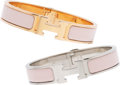 """Luxury Accessories:Accessories, Hermès Set of Two: Clic Clac H PM Bracelets. Condition: 1. 0.5"""" Width x 6.5"""" Circumference . ... (Total: 2 )"""