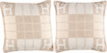 """Luxury Accessories:Home, Hermès Set of Two: Coco & Camomille Small Avalon III Pillows. Condition: 2. 20"""" Width x 20"""" Height x 6.5"""" Depth. ... (Total: 2 )"""