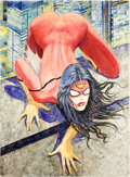 Original Comic Art:Covers, Milo Manara Spider-Woman #1 Couverture Variante Originale (Marvel, 2014)....
