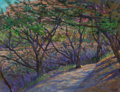 Works on Paper, Michael Etie (American, b. 1948). Trail to the Cricket Cave, Garner Park. Pastel on paper. 17-1/2 x 23-1/2 inches (44.5 ...