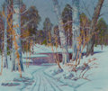 Paintings, Peter Lanz Hohnstedt (American, 1872-1957). Winter Serenity. Oil on canvas. 25 x 30 inches (63.5 x 76.2 cm). Signed lowe...