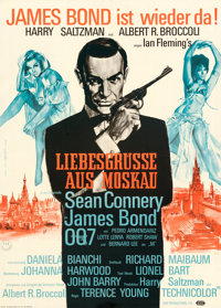 "From Russia with Love (United Artists, 1964). Very Fine on Linen. German A1 (23.5"" X 33"") Atelier Degen Artwor..."