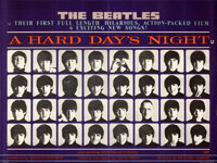 "A Hard Day's Night (United Artists, 1964). Folded, Very Fine+. British Quad (30"" X 40"")"